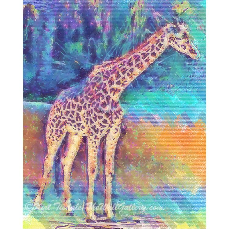 Giraffe In Pastel