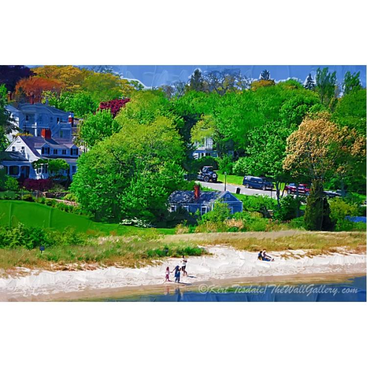 New England Beach In Impasto
