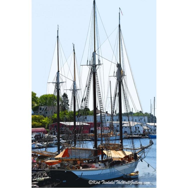 Purple Sailboat