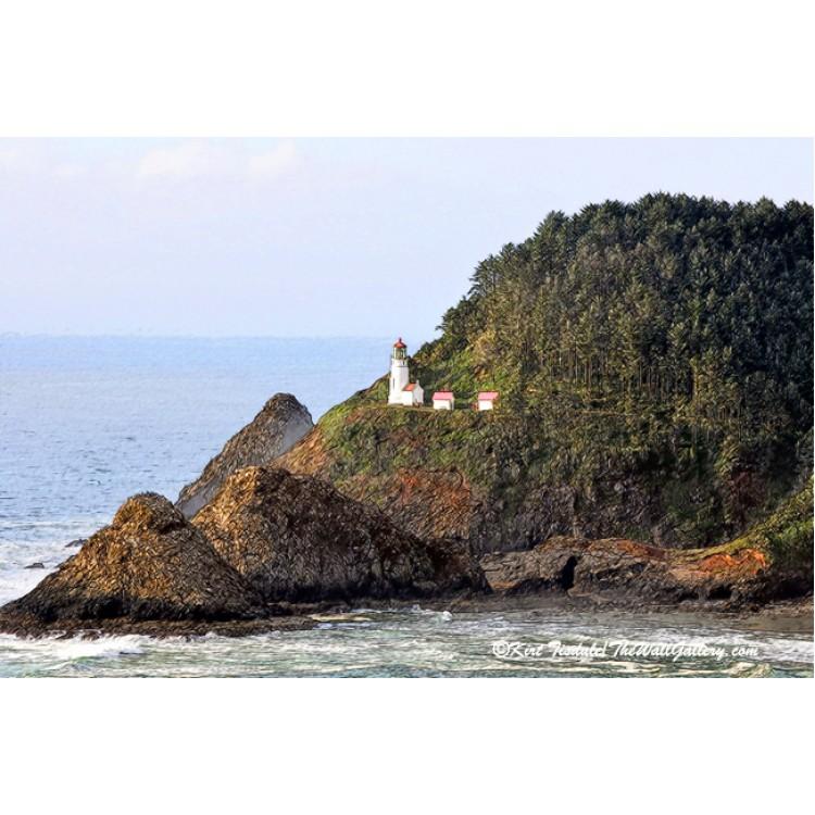 Heceda Head Lighthouse Sketched
