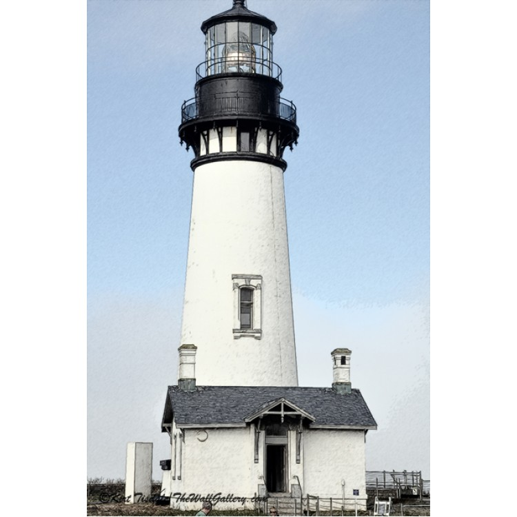Yaquina Head Lighthouse in Watercolor