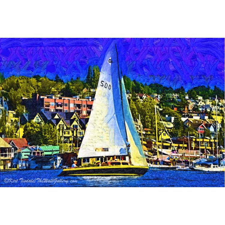 Sailboat On Lake Union