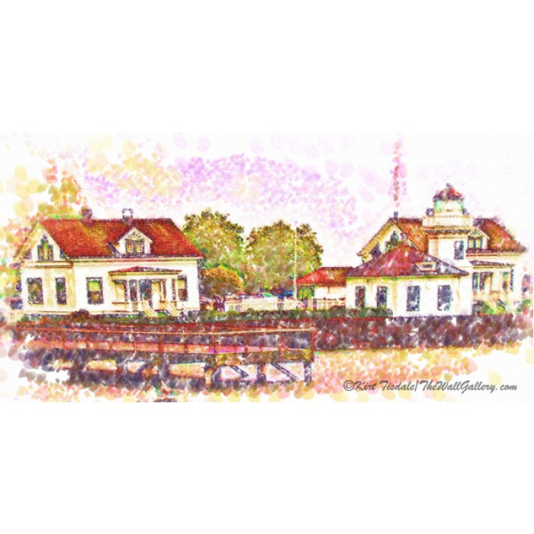 Mukilteo In Pointillism