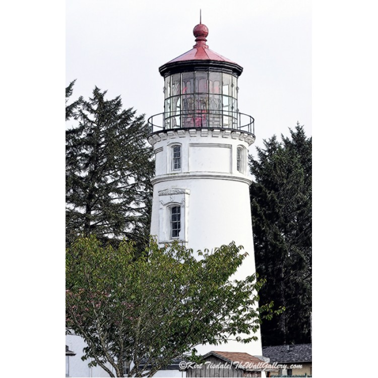 Umpqua River Lighthouse Sketched