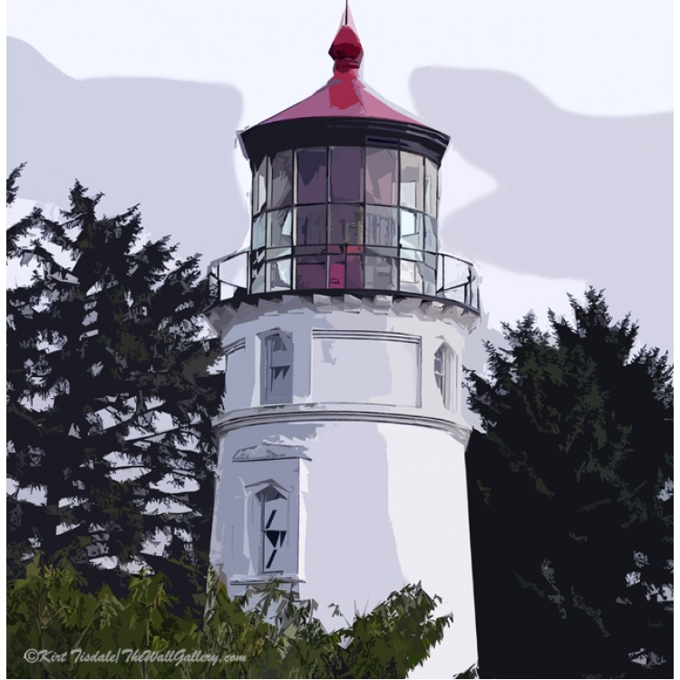 Abstract Umpqua River Lighthouse