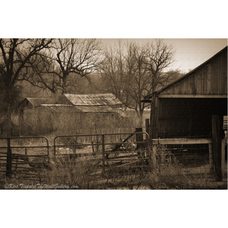 Abandoned Farm In Sepia