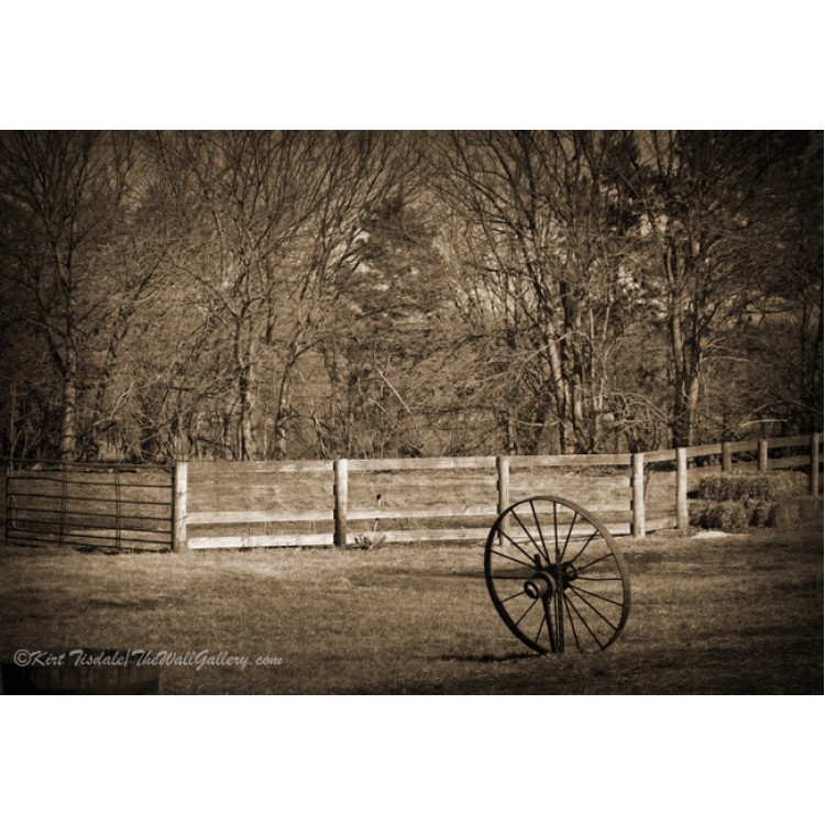 Wagon Wheel And The Fence