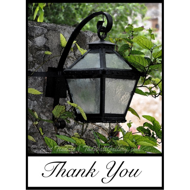 Garden Lamp Thank You Card