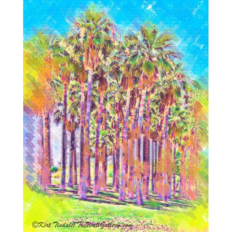 Pastel Palm Grove