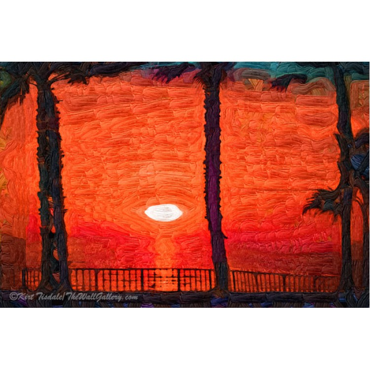 Bright Orange Tropical Sunset